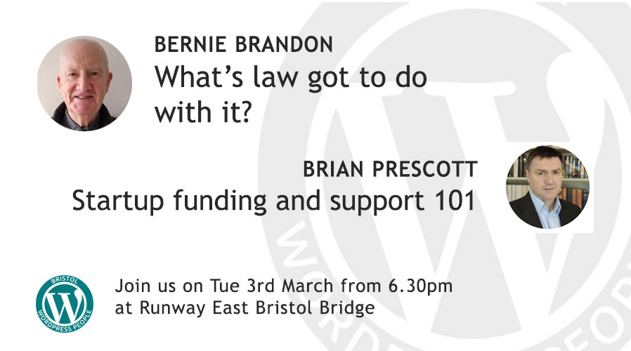 What's law got to do with it? & Startup Funding and Support 101